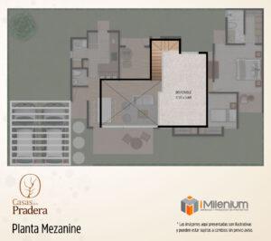 Planta mezanine Casas de la Pradera