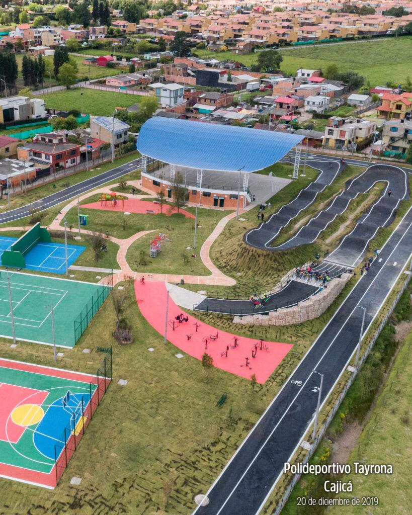 Foto aérea del parque tairona Fundación Milenium